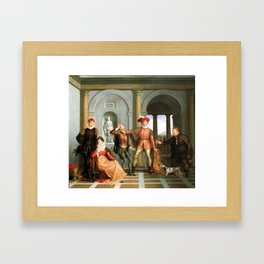 Washington Allston Scene from Shakespeare's The Taming of the Shrew (Katharina and Petruchio) Framed Art Print