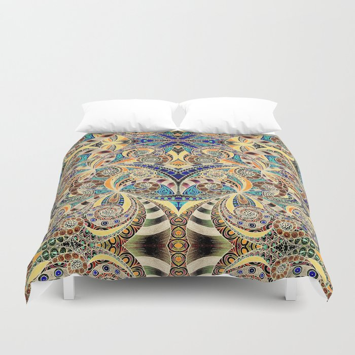 Drawing Floral Zentangle G240 Duvet Cover