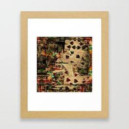 Abstract Vintage Playing cards  Digital Art Framed Art Print