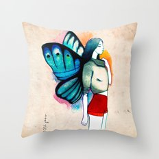 Little Thumbelina in red shorts Throw Pillow