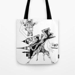 Giraffe and a Half Tote Bag