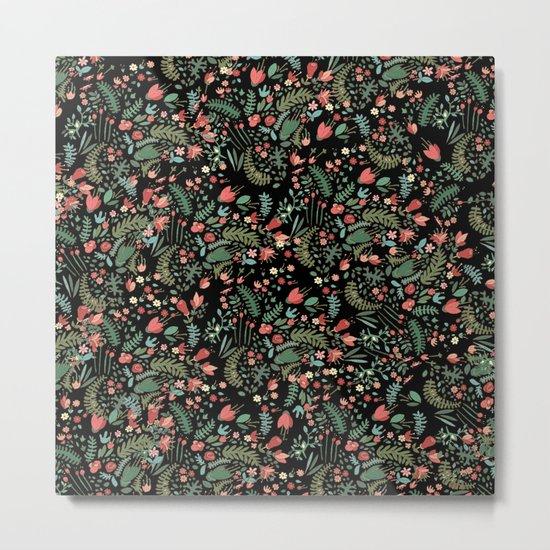 Floral Patern Metal Print