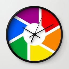 Gay Pride Flag Circle Wall Clock