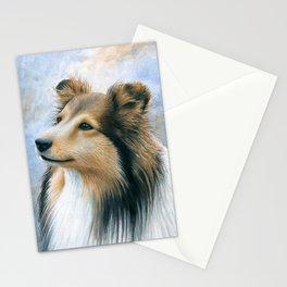 Dog 122 Sheltie Collie Dog Stationery Cards