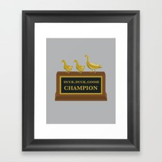Duck, Duck, Goose Champion Framed Art Print
