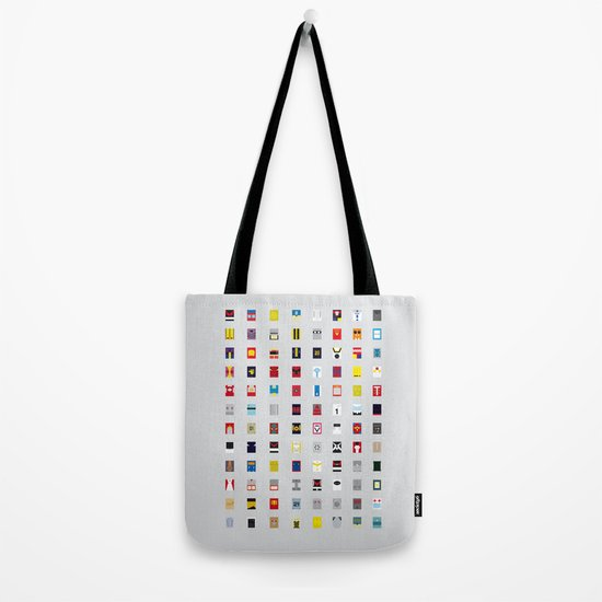 Minimalism robots (Good natured / Defenders) Tote Bag