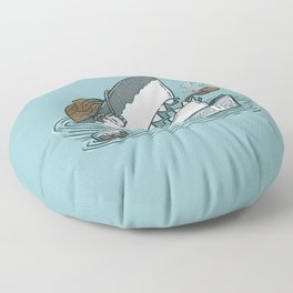 The Dad Shark Floor Pillow
