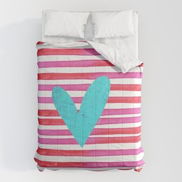 Soulmates Lines and Hearts Comforters
