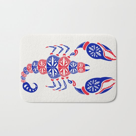 Patriotic Scorpion Bath Mat