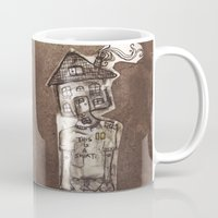 cartoons Mugs featuring Saturday Morning Cartoons 1: Homebody by Kayleigh Morin