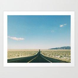 Desert Road Trip II Art Print