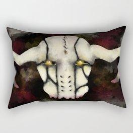 Skull Mask Rectangular Pillow