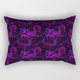 Mystical Moon Night Flowery - Enchanted Flowers Rectangular Pillow