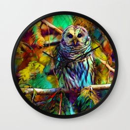 Barred Owl - As Deep as Forever Wall Clock