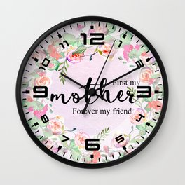 First my mother Wall Clock