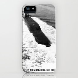 USS JOHN MARSHALL (SSN-611) iPhone Case