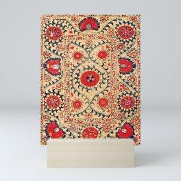 Samarkand Suzani Bokhara Uzbekistan Floral Embroidery Print Mini Art Print