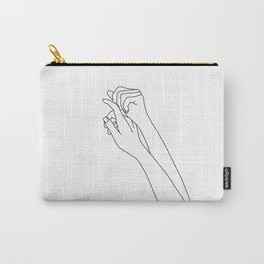 Woman's arms line drawing illustration - Davi Carry-All Pouch