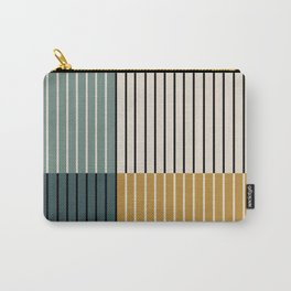 Color Block Line Abstract VIII Carry-All Pouch