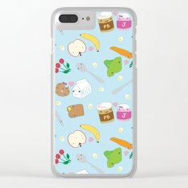 Kawaii Happy Snacks Toss Clear iPhone Case