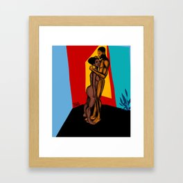 2021 Powerful Colorful Nubian Passion by Marcellous Lovelace Framed Art Print