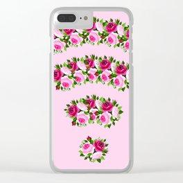 wifi flower Clear iPhone Case