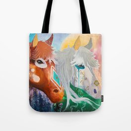 You and me - Horses - Animal - by LiliFlore Tote Bag