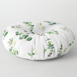 Eucalyptus and Olive Pattern 2  Floor Pillow