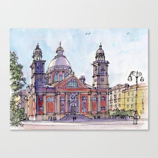 Chiesa a Carignano (Genova) Canvas Print