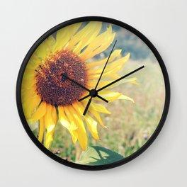 Sunflower Meadow Wall Clock