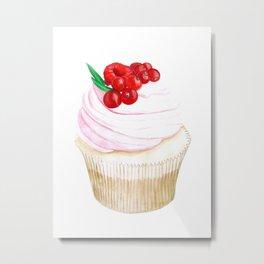 Classic Cupcake Metal Print