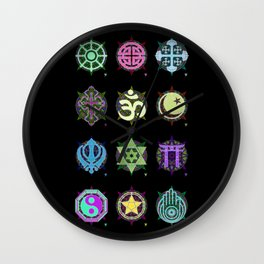 World Religions -- Group Wall Clock