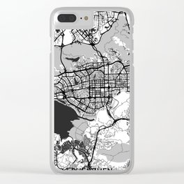 Shenzhen Map Gray Clear iPhone Case