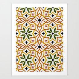 Obsession nature mosaics Art Print