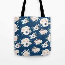 Dog Rose Pattern Tote Bag