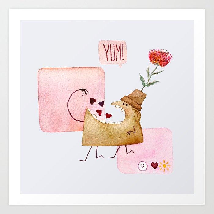 Underbite Valentine Art Print