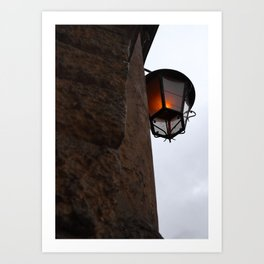 Candlelight to the sky Art Print