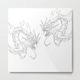 Mechanical Gyarados Metal Print