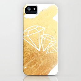 Faceted Gold iPhone Case