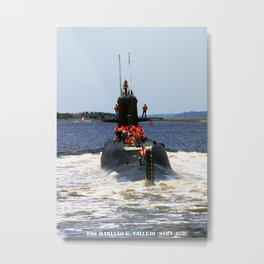 USS MARIANO G. VALLEJO (SSBN-658) Metal Print