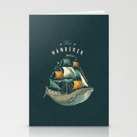 lettering Stationery Cards featuring Whale | Petrol Grey by Seaside Spirit