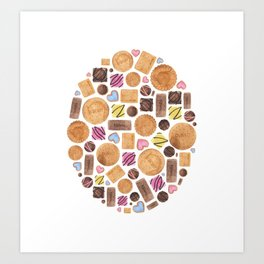 Sweets and Candy. Art Print