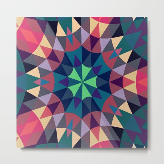 Cool Warmth Retro Geometry Metal Print