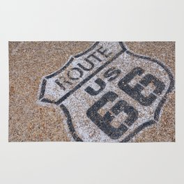 The mythical Route 66 sign in California, USA. Rug