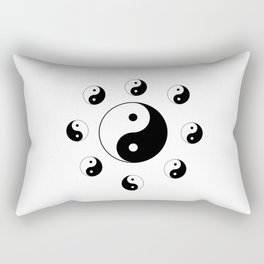 Yin and Yang 11 - Tao,Zen,Taoism,Dao,Harmony,religion,buddhism,buddhist,taijitu,taiji,taoist,china Rectangular Pillow
