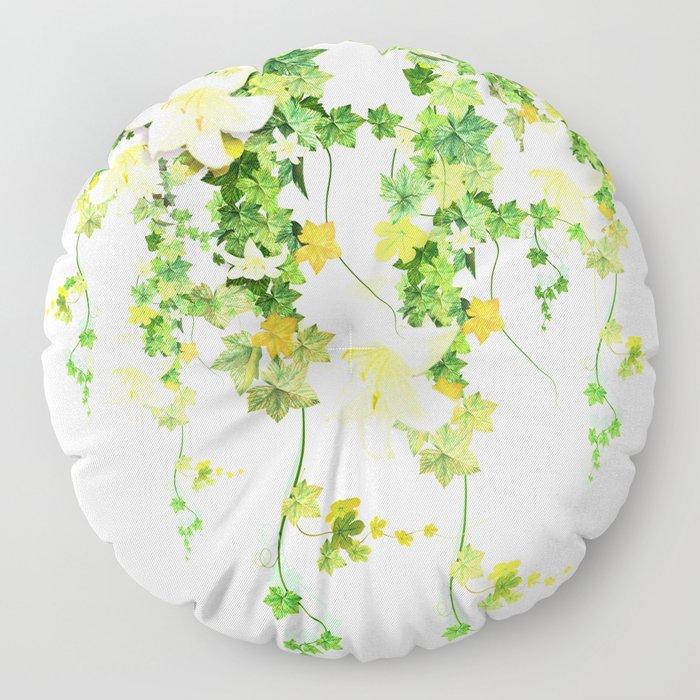 Watercolor Ivy Floor Pillow