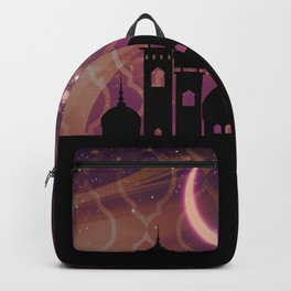 Purple & Gold Arabian Nights Half Moon Backpack