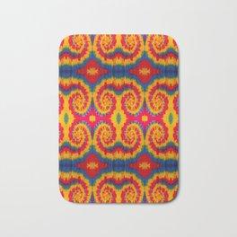 Tri-Swirl tie dye pattern Bath Mat