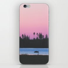 Pink skies over the lake iPhone & iPod Skin
