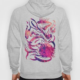 Purple Pink Abstract Life Plant Hoody